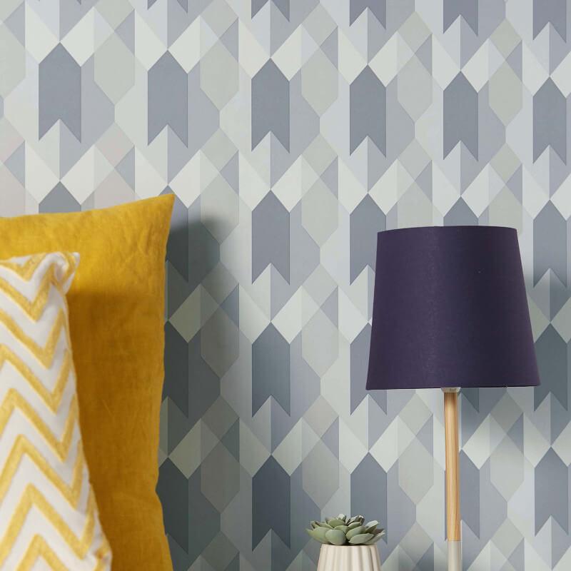 Coloroll Copenhagen Geometric Grey Wallpaper - M1328