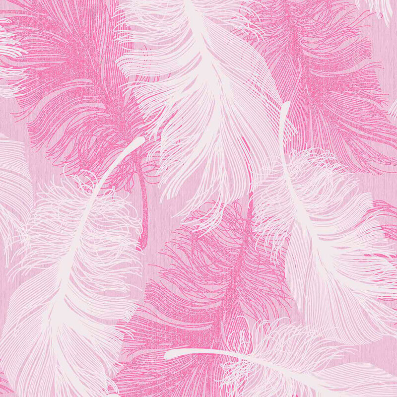 Coloroll Feathers Powder Pink Glitter Wallpaper - M0963
