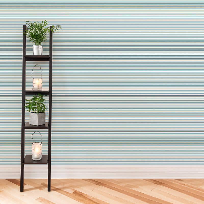 Coloroll Martez Stripe Wallpaper in Blue - M0799