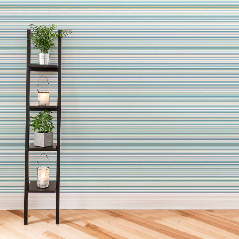 Coloroll Martez Stripe Blue Wallpaper - M0799
