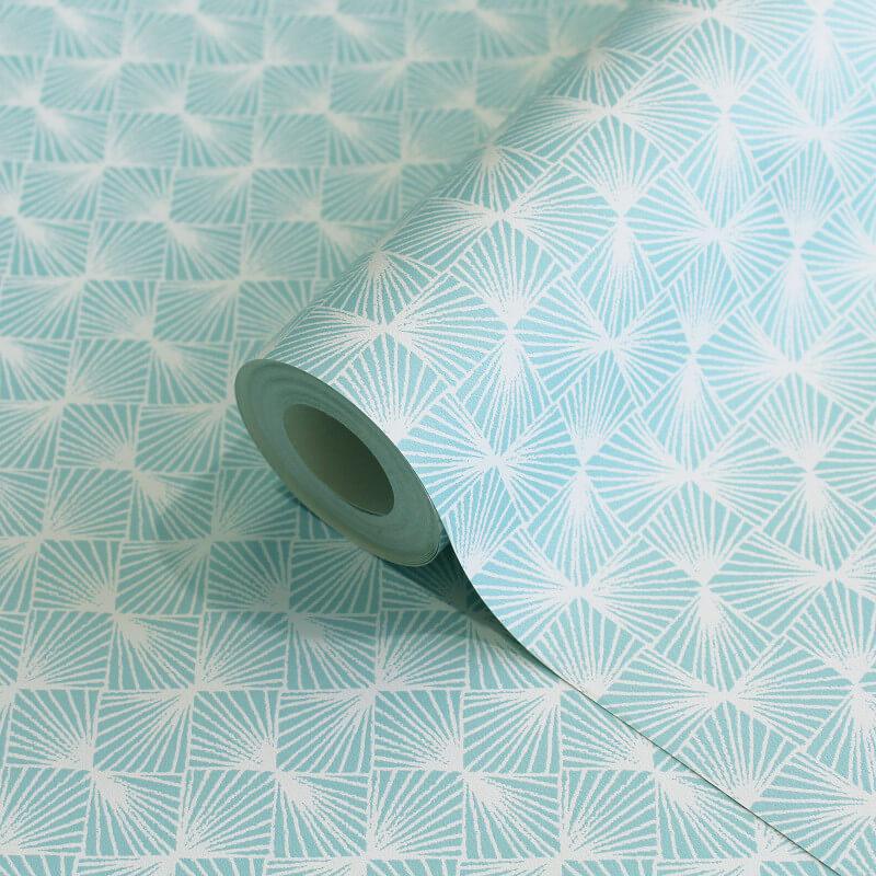 Coloroll Stockholm Geometric Blue Wallpaper - M1321