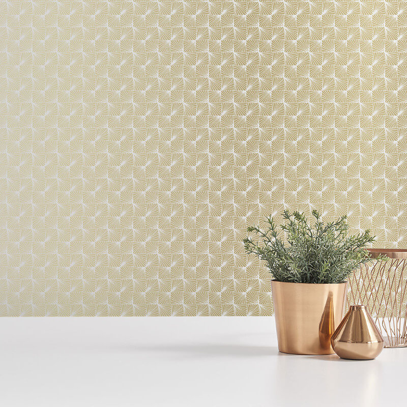 Coloroll Stockholm Geometric Gold Wallpaper - M1319