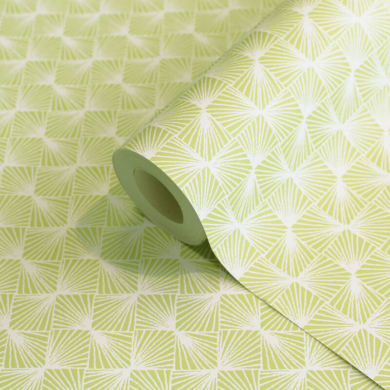 Coloroll Stockholm Geometric Green Wallpaper - M1320