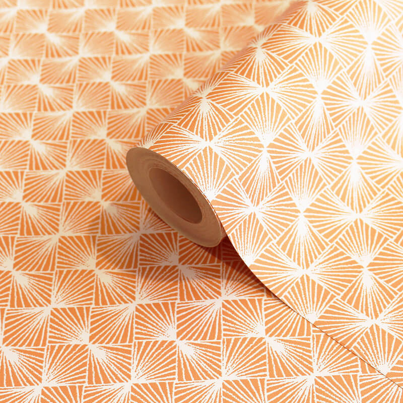 Coloroll Stockholm Geometric Orange Wallpaper - M1318