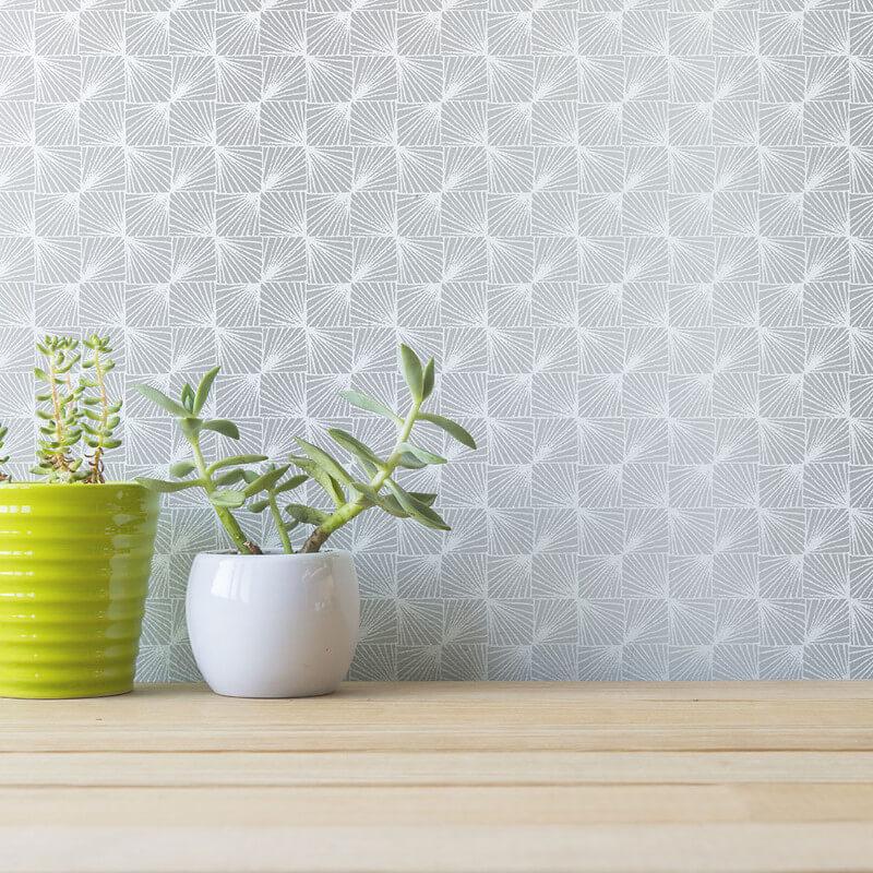 Coloroll Stockholm Geometric Silver/Grey Wallpaper - M1322