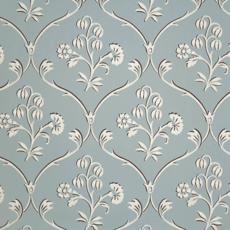Little Greene Cranford Wallpaper in Sky Blue