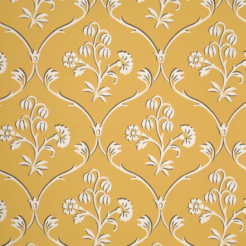 Little Greene Cranford Wallpaper in Wheat