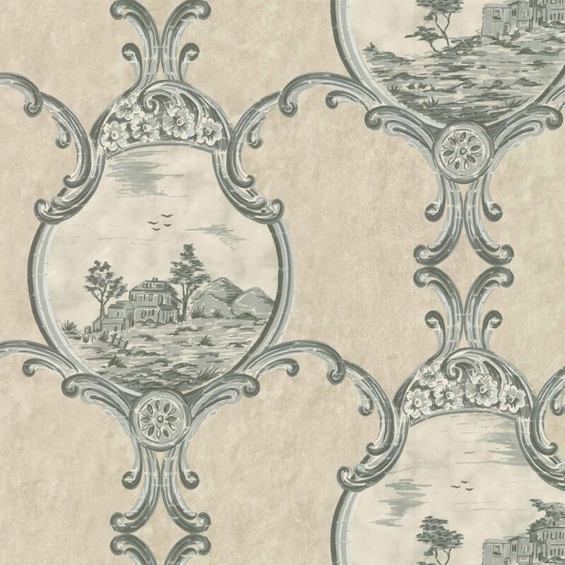 Little Greene Crooms Hill Wallpaper in Breccia