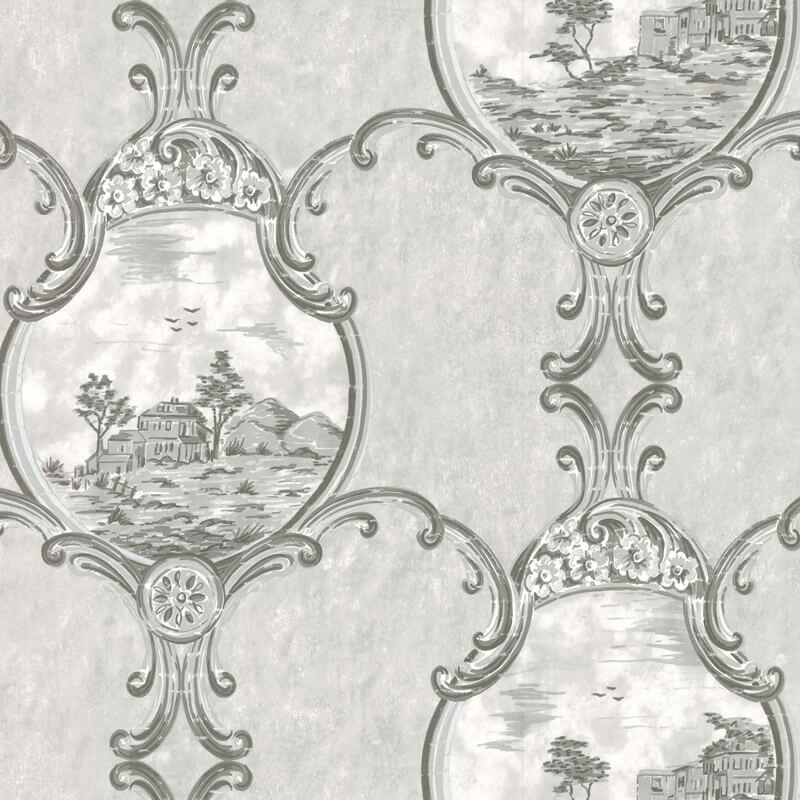 Little Greene Crooms Hill Wallpaper in Haze
