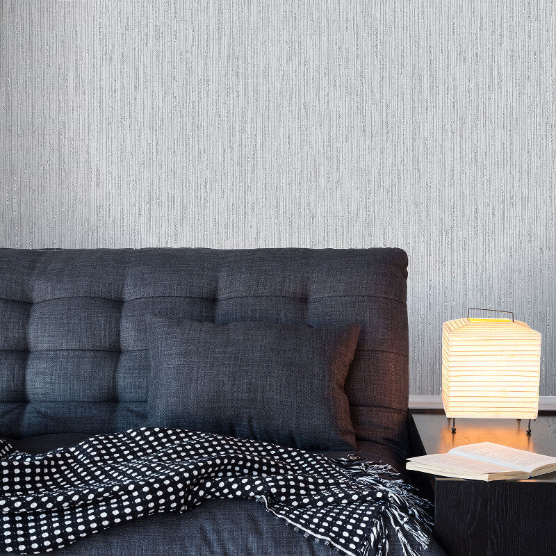 Crown Alberto Sheena Dove Grey Glitter Wallpaper - M1094