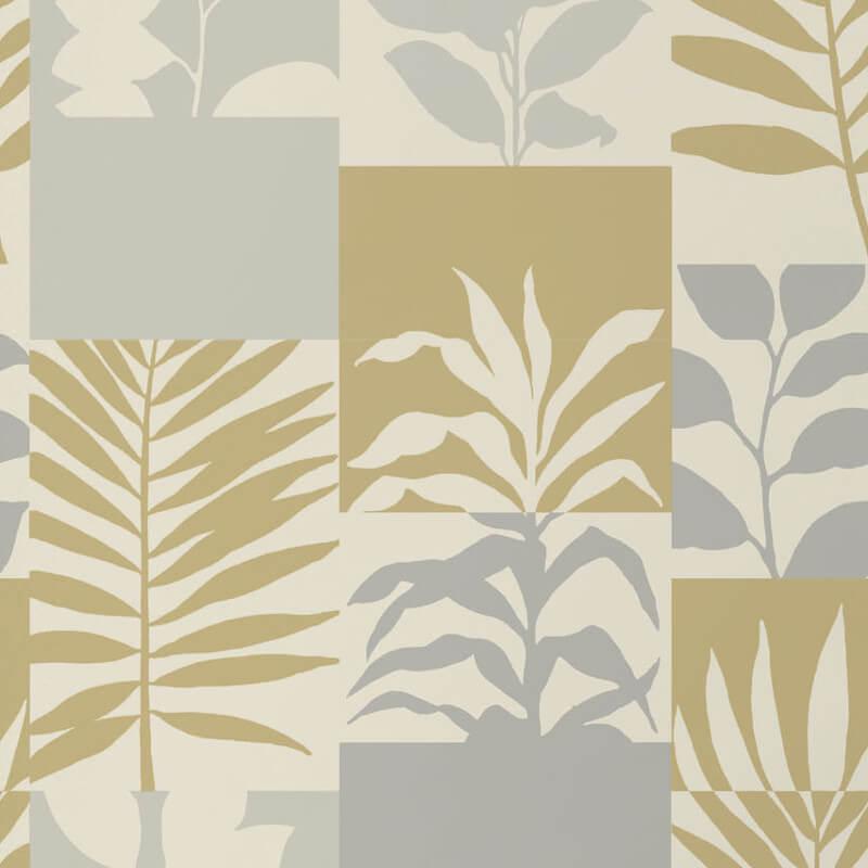 Crown Alexis Leaf Gold Metallic Wallpaper - M1384
