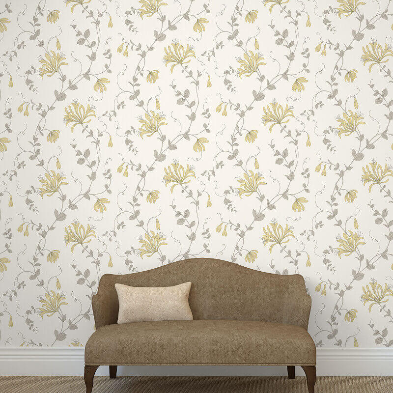 Crown Amelie Floral Camomile Wallpaper - M1302