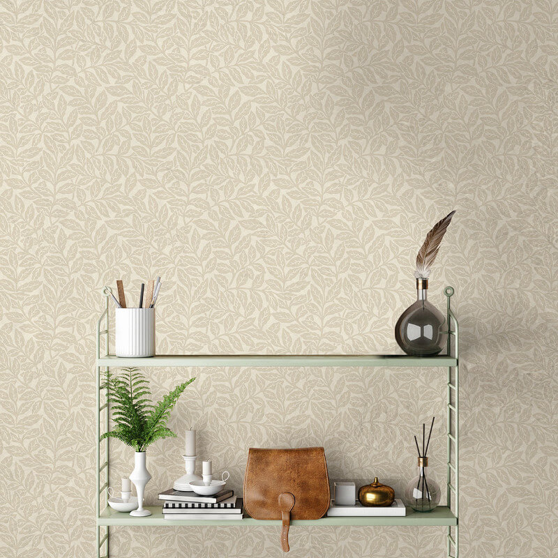 Crown Ash Branch Floral Natural Wallpaper - M1177