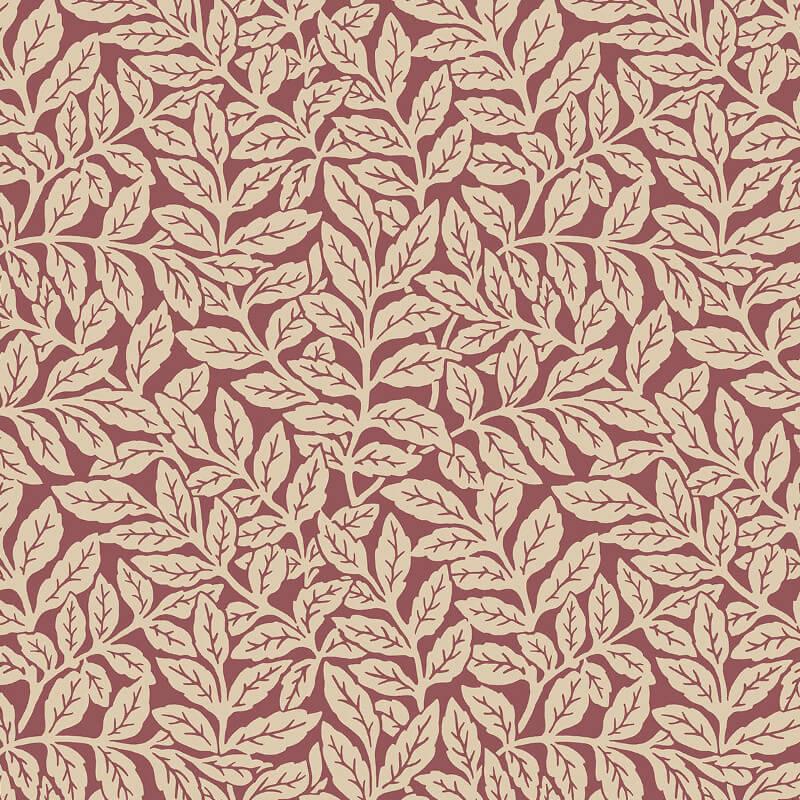 Crown Ash Branch Floral Russet Wallpaper - M1181