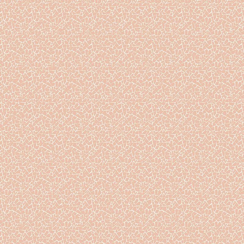 crown florence crackle plain rose gold cream wallpaper m1249