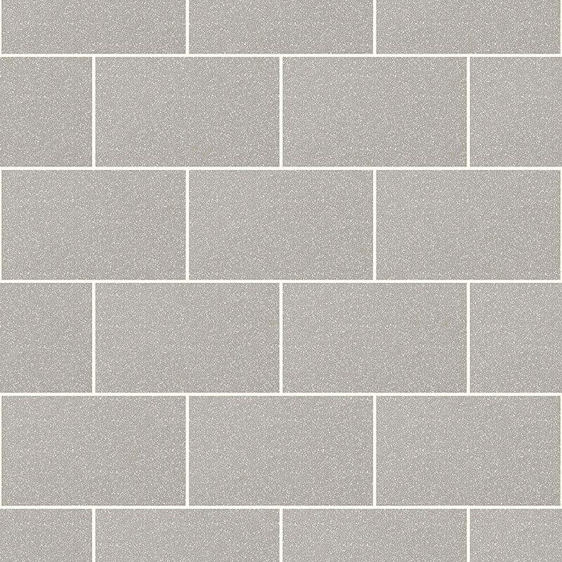 Crown London Tile Grey Glitter Wallpaper - M1123