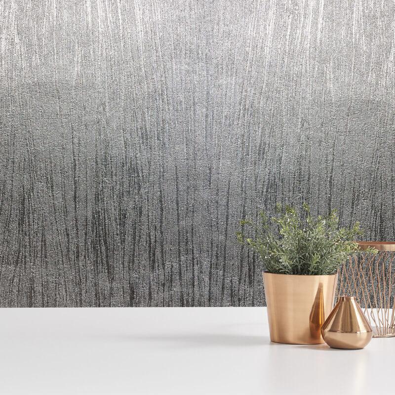 Crown Lustre Texture Silver Foil Metallic Wallpaper - M1393