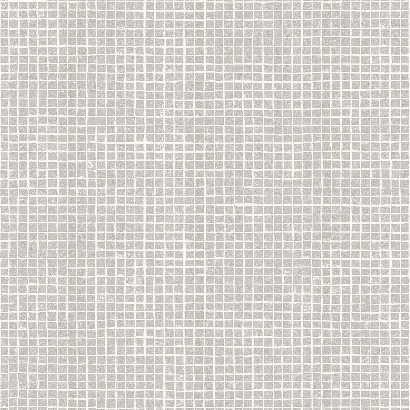 Crown Mosaic Tile Grey Glitter Wallpaper - M1121
