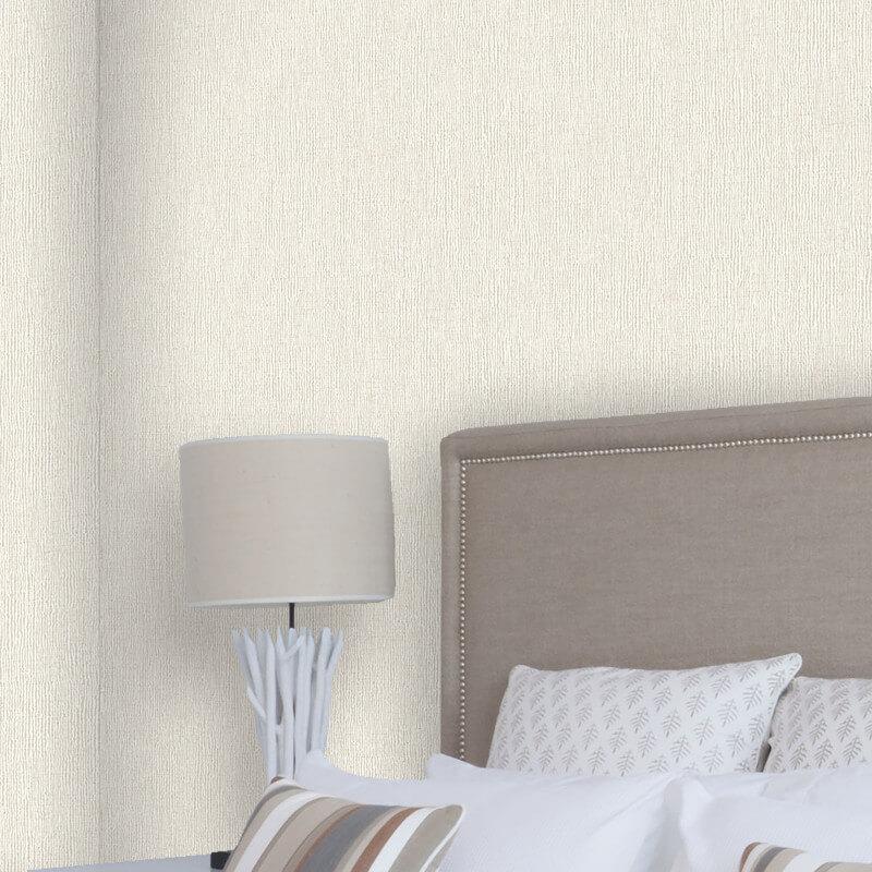 Crown Scandi Texture Plain Cream Glitter Wallpaper - M1258