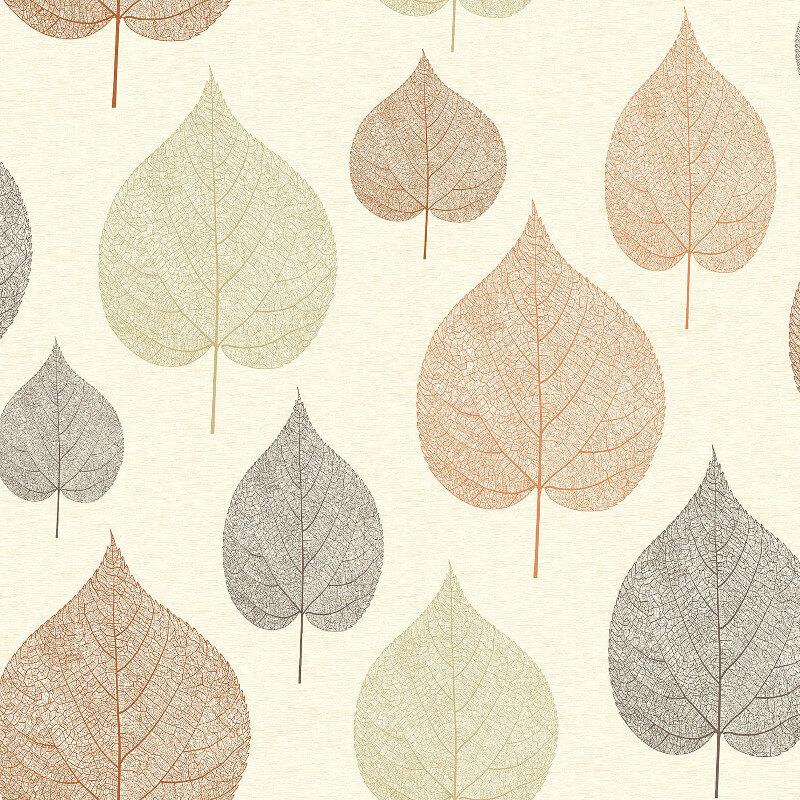 Crown Signature Leaf Russett Wallpaper - M1069