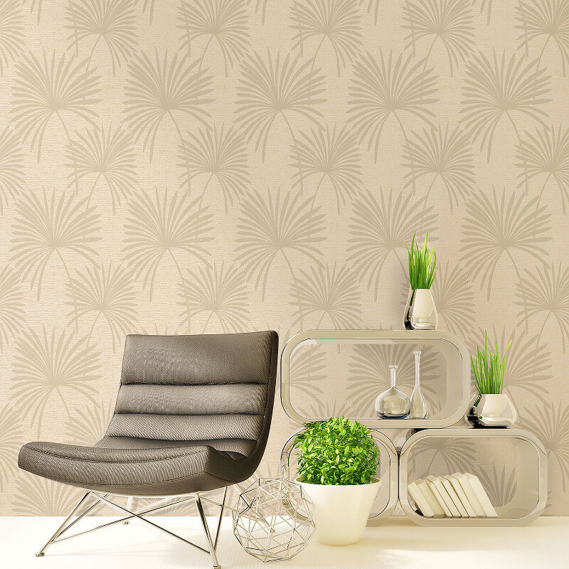 Crown Tropicana Palm Wallpaper in Natural - M0950