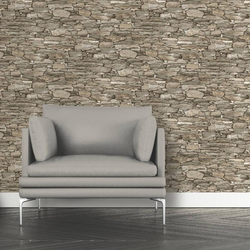 Debona Natural Stone Beige Wallpaper - 1282