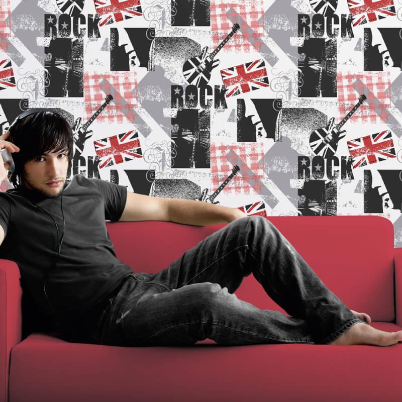Debona Rock n Roll Multi Wallpaper - 10011