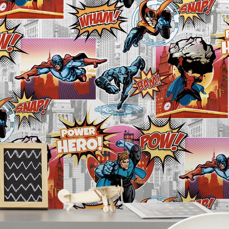 Debona Superhero Comic Multi Wallpaper - 6337