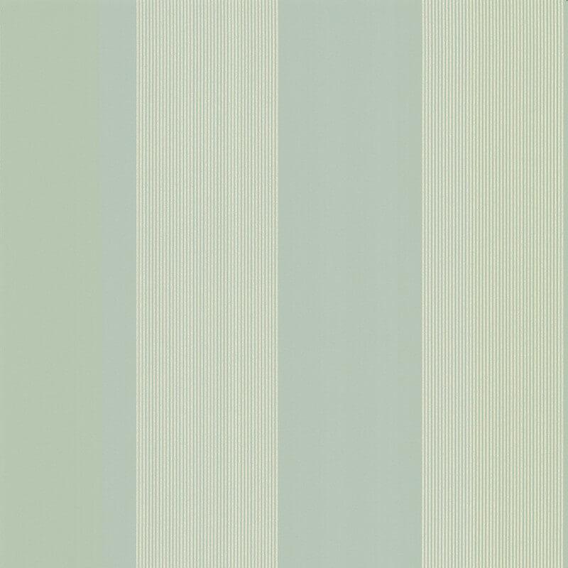 Little Greene Elephant Stripe Wallpaper in Salvia