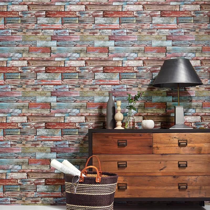 Erismann Authentic Wood Panel Multi Wallpaper - 7319-06