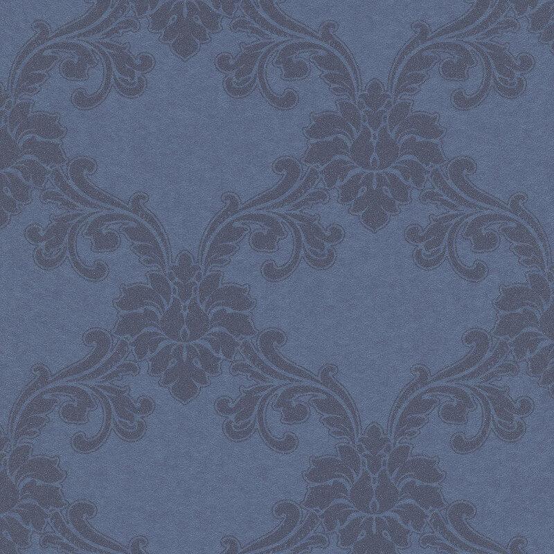 Erismann Cassiopeia Damask Blue Wallpaper - 1760-08