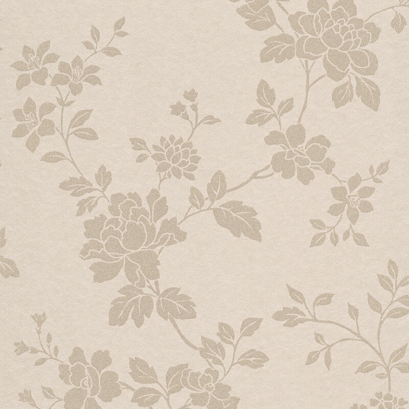 Erismann Cassiopeia Floral Beige Wallpaper - 1761-14
