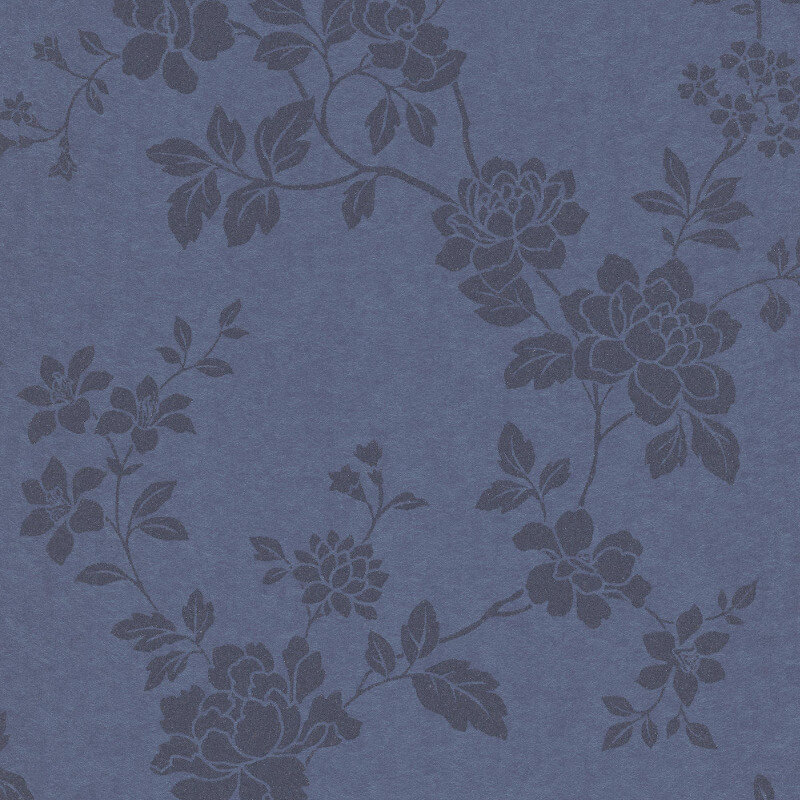 Erismann Cassiopeia Floral Blue Wallpaper - 1761-08