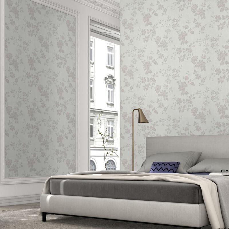 Erismann Cassiopeia Floral Ivory Wallpaper - 1761-01