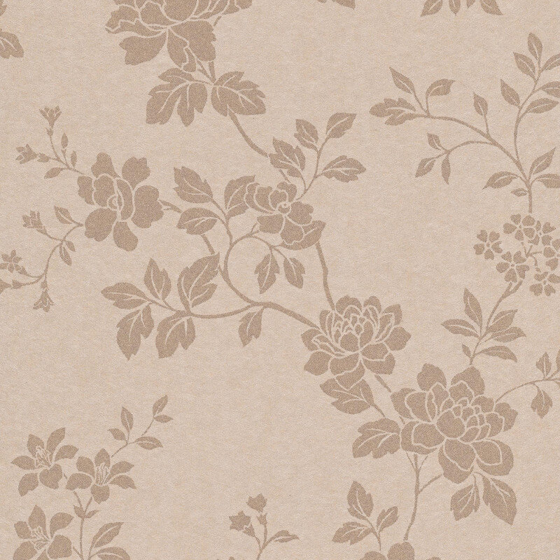 Erismann Cassiopeia Floral Taupe Wallpaper - 1761-02