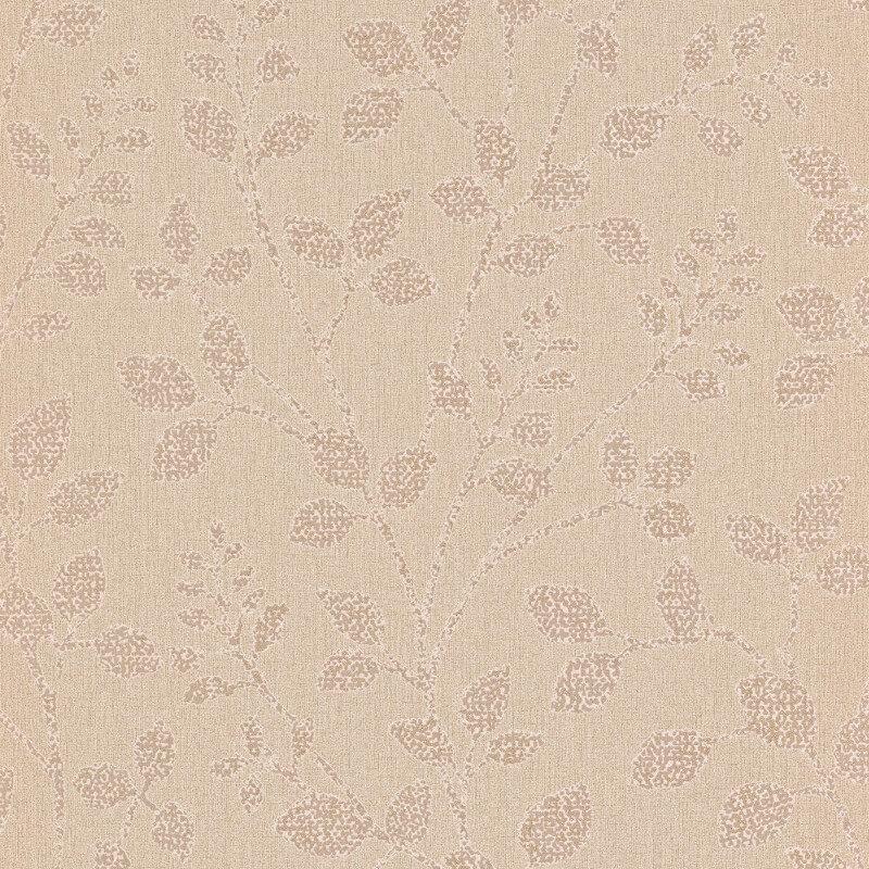 Erismann Cassiopeia Leaf Beige Glitter Wallpaper - 1774-02