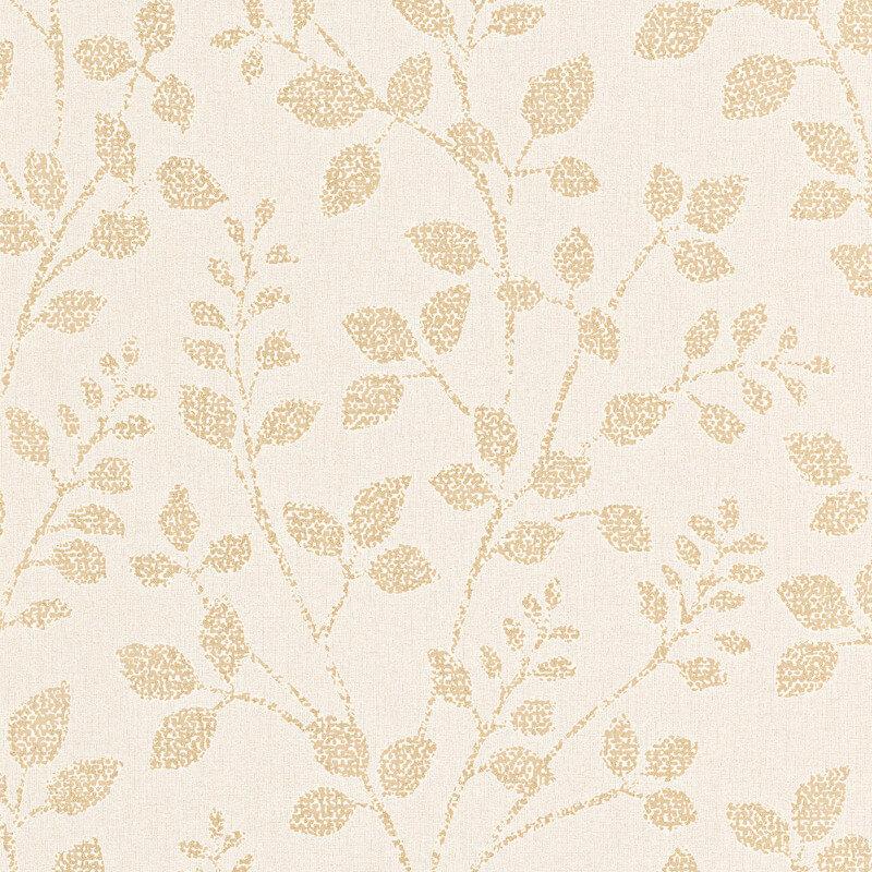 Erismann Cassiopeia Leaf Gold Glitter Wallpaper - 1774-30