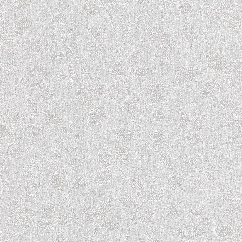 Erismann Cassiopeia Leaf Grey Glitter Wallpaper - 1774-31