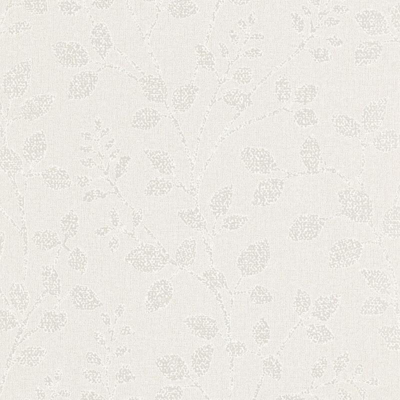 Erismann Cassiopeia Leaf Ivory Glitter Wallpaper - 1774-26