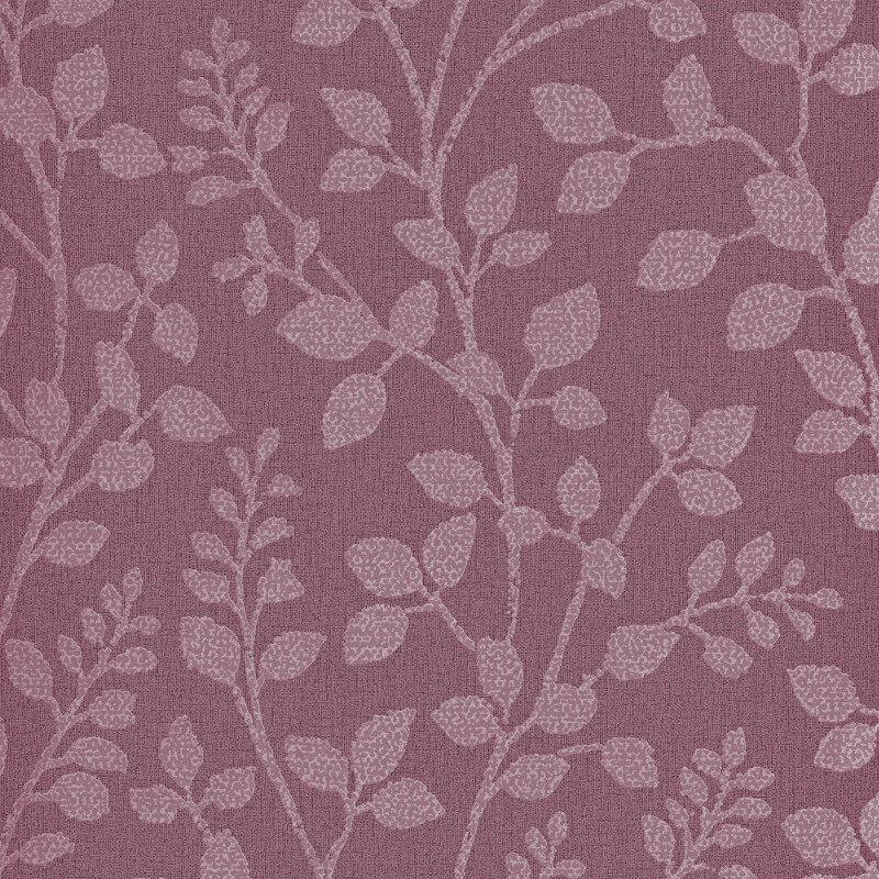 Erismann Cassiopeia Leaf Plum Glitter Wallpaper - 1774-16