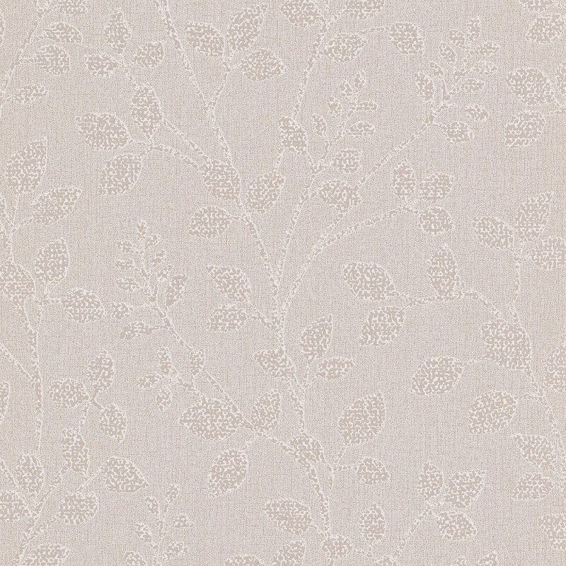 Erismann Cassiopeia Leaf Taupe Glitter Wallpaper - 1774-38