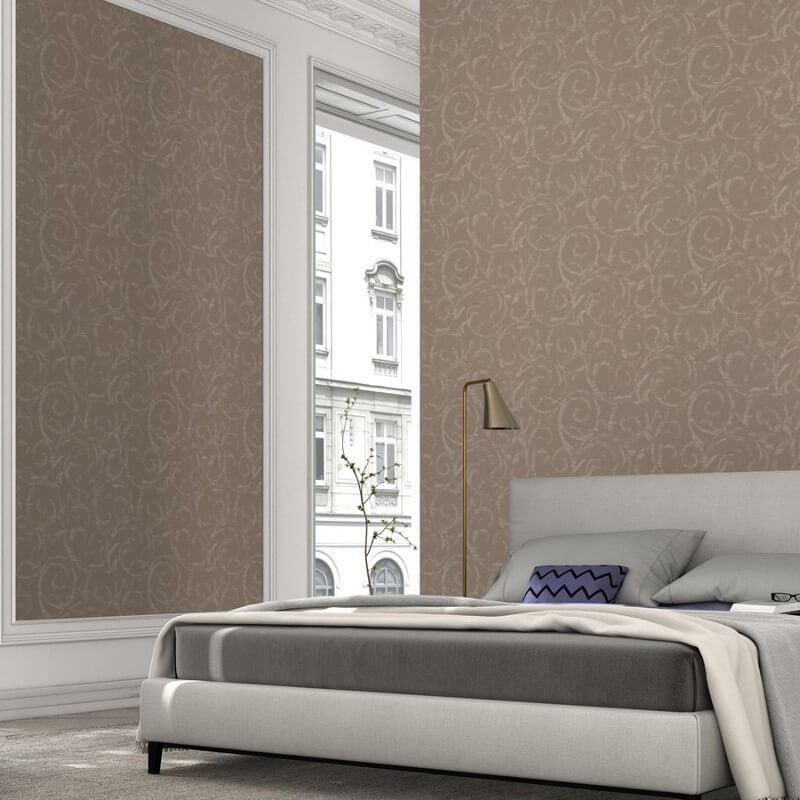 Erismann Cassiopeia Motif Brown Glitter Wallpaper - 1772-11