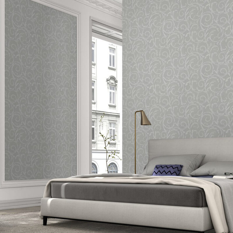 Erismann Cassiopeia Motif Grey Glitter Wallpaper - 1772-31