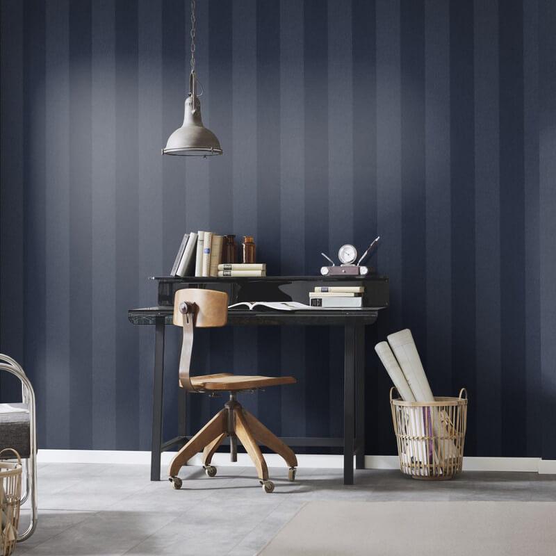 Erismann Cassiopeia Striped Blue Wallpaper - 1771-08