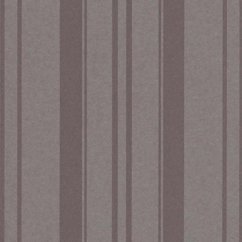 Erismann Cassiopeia Striped Pewter Wallpaper - 1762-37