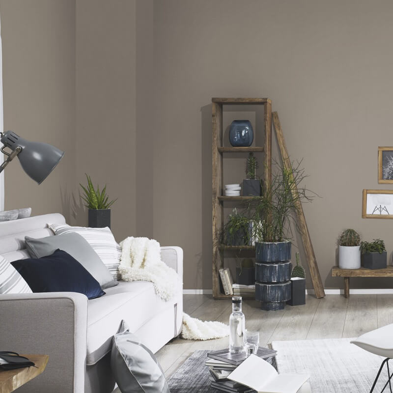 Erismann Plain Taupe Glitter Wallpaper - 4630-11