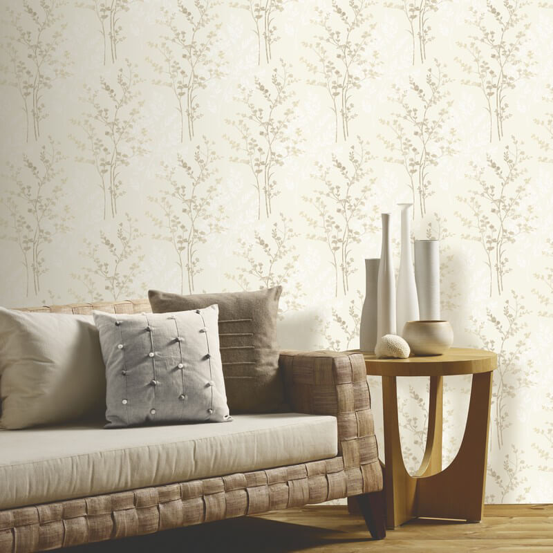 Arthouse Fern Motif Wallpaper In Brown, Beige And Cream   250402 Part 56