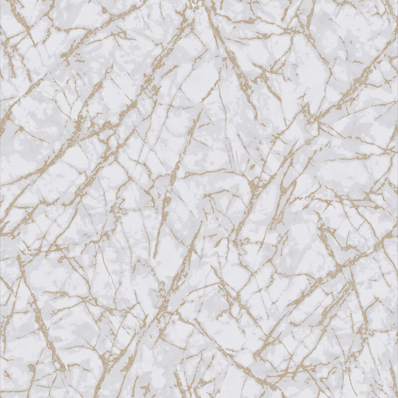 Fine Decor Marblesque Marble White/Gold Metallic Wallpaper - FD42270