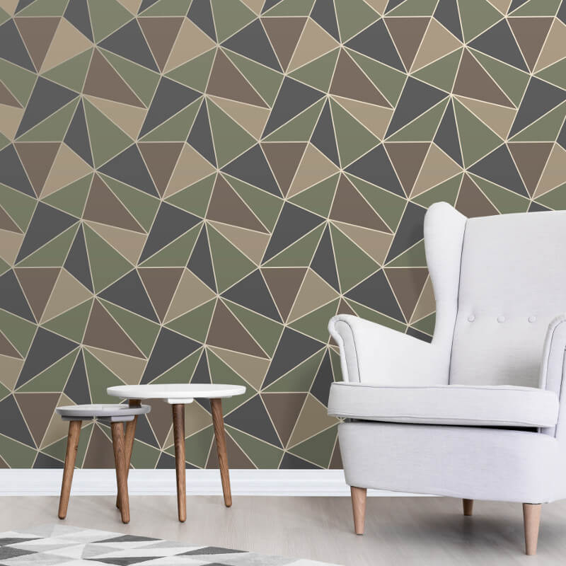 Fine Decor Apex Geo Camo Wallpaper - FD42000
