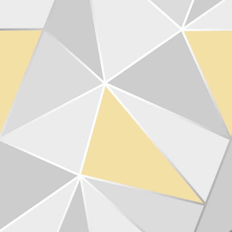 Fine Decor Apex Geo Yellow/Grey Wallpaper   FD41991